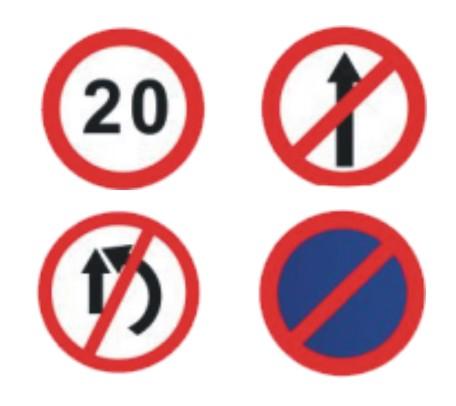 Round IRC 900 MM Signage